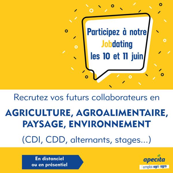 Jobdating APECITA Hauts de France les 10 & 11 juin 2021