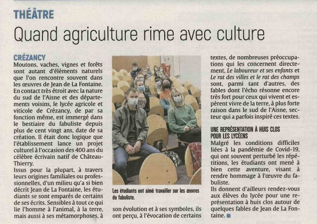 Théâtre : Quand agriculture rime avec culture